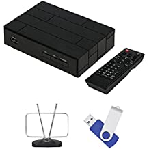 Terk Complete Cut The Cord Tuner Bundle with HDTV antenna , Fully Functional Tuner Box With DVR and 16GB Of Recording Space