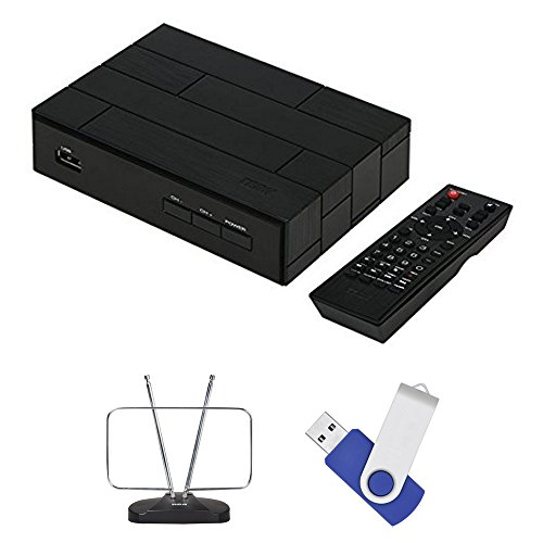 Terk Digital Tv (Terk Complete Cut The Cord Tuner Bundle with HDTV antenna , Fully Functional Tuner Box With DVR and 16GB Of Recording Space)