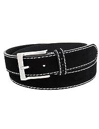 Florsheim de los hombres Casual Cinturón de piel auténtica de ante con contraste cosido Edge
