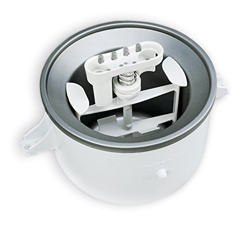 KitchenAid KICA0WH Ice Cream Maker Attachment - Excludes 7, 8, and most 6 Quart Models ()
