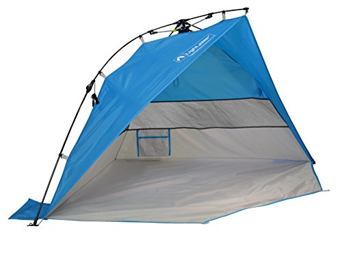 Lightspeed Outdoors Mini Pop Up Beach Tent Sun Shade, Blue