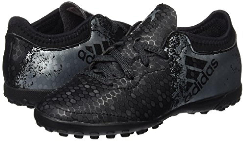 Adidas Boys X 16.3 Cage Football Boots, Black (Core Black/Dark Grey/Solar Red), 1 UK 33 EU