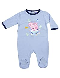 Peppa Pig Baby Boys Girls Complete Pajama with Footies 100% Cotton