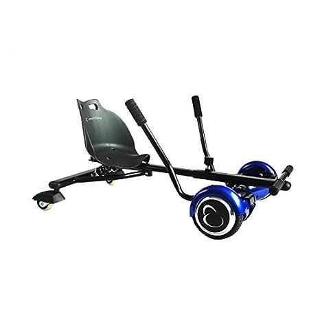 SmartGyro Crazy-Kart Black - Hoverkart, Soporte adaptable para patín eléctrico, Eje de 2 Ruedas locas y Suspensión Trasera, Diseñado para derrapar, ...