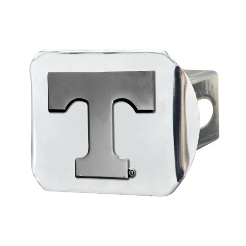 Fanmats 15061 NCAA University of Tennessee Volunteers Chrome Hitch (Mlb Truck Trailer Hitch Cover)