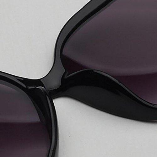 para De Gafas GAOJUAN Protección Redblack Mujer Gafas red UV400 Sol Aqx5wnT4UF