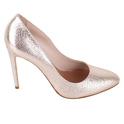 Twin Set Mujer CS8PLC189 Plata Cuero Zapatos Altos