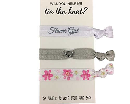 Flower Girl Gift, Flower Girl Hair Ties, Bridesmaid Jewelry Accessory-Makes The Perfect Gift for Flower Girls