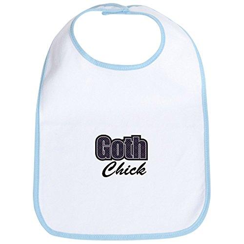 (CafePress - Black Plaid Goth Chick Saying Bib - Cute Cloth Baby Bib, Toddler Bib)