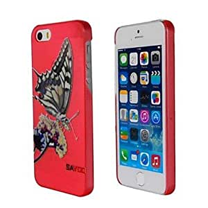 DUR Sculpture Relief Butterfly Pattern Hard Plastic Back Coverfor iPhone5S/iPhone5