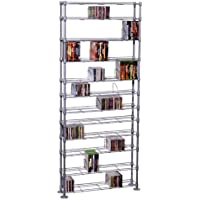 Maxsteel 12 Tier Steel Wire Shelving for 864 CD/450 DVD/BluRay/Games Media Silver