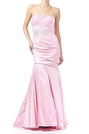 df9deaa252802 LAインポート サテン地ライトピンク マーメードラインドレス エンパイアラインドレス 結婚式ドレス ナイトドレス