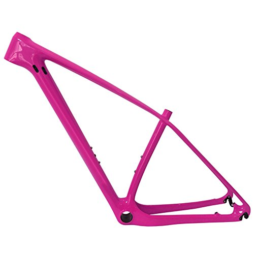 SmileTeam T1000 Carbon Pink Glossy Mtb Frame 29er Mtb Carbon Frame 29 Carbon Mountain Bike Frame 142x12 or 135x9mm Bicycle Frame