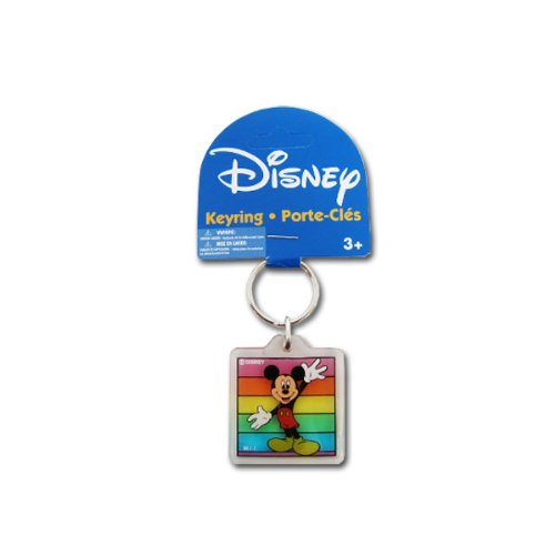 Price comparison product image Acrylic Keychain in Classic Disney Character Design - Mickey Mouse with Rainbow