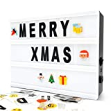 Cinematic Light Box- A5 Magnetic Mini Cinema Light Box 160 Letters Numbers Symbols, Customized Your Own Message Home Decoration,Wedding,Birthday Parties