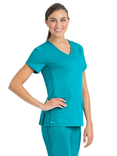 Grey's Anatomy Active 41423 Top Teal M by Barco (Image #1)