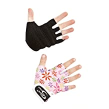 Sport DirectTM Bicycle Childs Kids Girls Lycra Gloves Pink X small