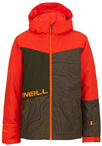 O'Neill Boys Hubble Jacket, Size 8, Green AOP/Black ()