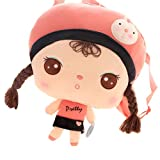 Egelbel Children Girls Soft Plush Dolls Backpack
