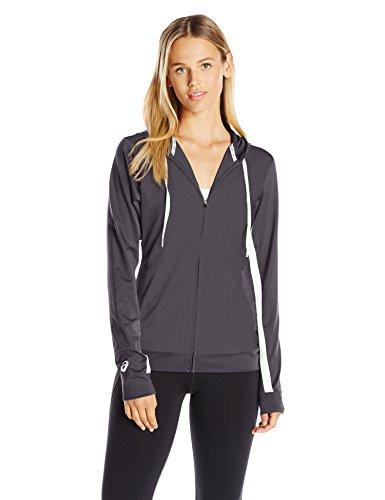 ASICS LANI Jacket, Steel Grey, Large (Gray Lani)