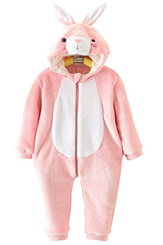 18-24 Month Old Girl Halloween Costumes (Baby Girls Rabbit Flannel Rompers Dress Up Costumes 100cm)