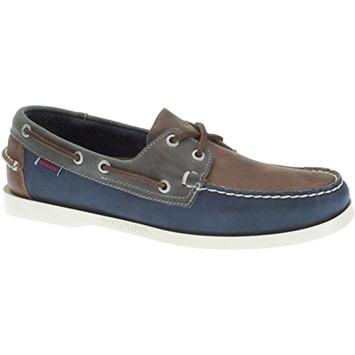 Sebago Navy Grey Brown SPINNAKER Unisex Nauticos Leather WfzSv0wqOf