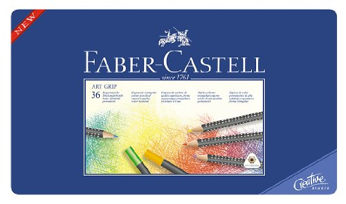 Faber-Castell Art GRIP Color Pencils, Tin of 36