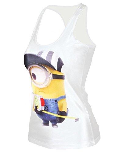 Ensasa Women's Fashion Minions Print Camisole Halter Top Sleeveless T-shirt