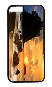 MOKSHOP Adorable coast beach evening sun Hard Case Protective Shell Cell Phone Cover For Apple Iphone 6 Plus (5.5 Inch) - PC Black