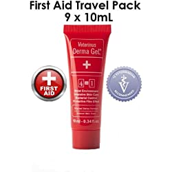 Veterinus Derma GeL FIRST AID - TRAVEL PACK - 9 x MINI Tubes 10mL - 0.34 fl.oz.