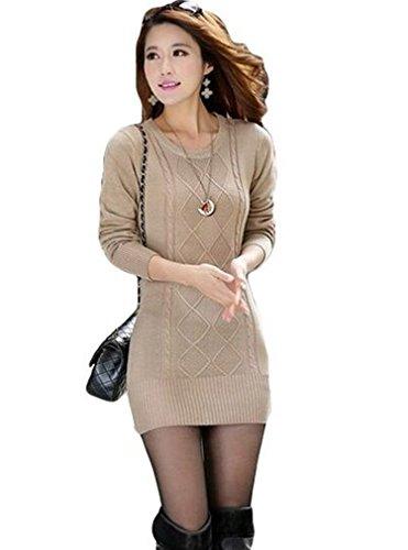 OURS Women's New Sweet Sweater Jumper Kintwear Mini Dress Pullover