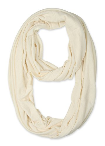 (corciova Light Weight Infinity Scarf with Solid Colors Cosmic Latte)