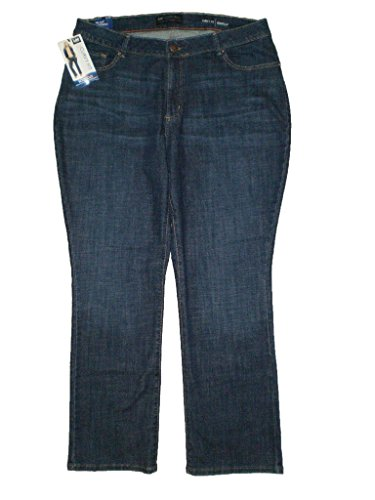 Lee Modern Series Mid Curvy Fit Boot Stretch Womens Petite Denim Jeans Plus Size 24W Petite by LEE