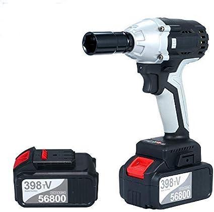 Kecheer Llave de impacto a bateria brushless,Atornillador de impacto electrico,Taladro atornillador batería con portabrocas de 1/2 pulg