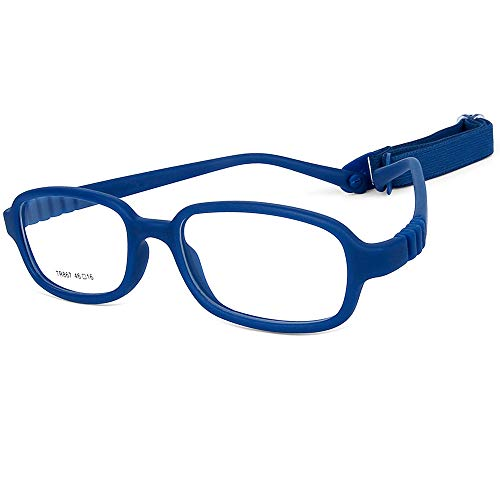 Children Optical Glasses Frame TR90 Flexible Bendable One-piece Safe Eyeglasses Girls Boys ()