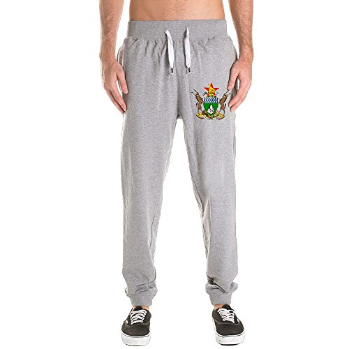 Amazon.com : Mens Coat Of Arms Of Zimbabwe National Emblem Tapered Legs Long Soccer Jersey Pants Sweatpants Sportswear Activewear Harem Trousers Use With ...