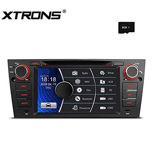 - XTRONS 7 Inch HD Digital Touch Screen Car Stereo Radio in-Dash DVD Player with GPS Navigation CANbus Screen Mirroring Function for BMW 3 Series E90 E91 E92 E93