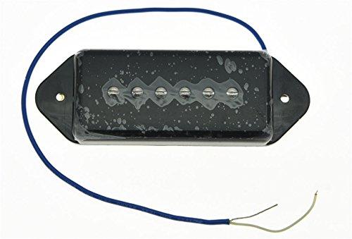 (KAISH Black P90 High Power Sound Dogear Type BRIDGE Pickup Soapbar Guitar Pickups)