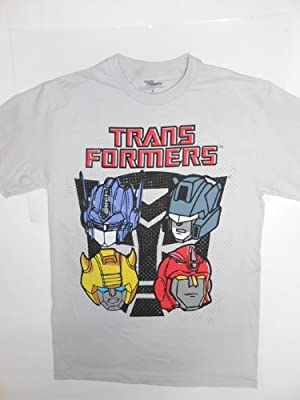 Transformers 4 Heads Gray Men T-shirt