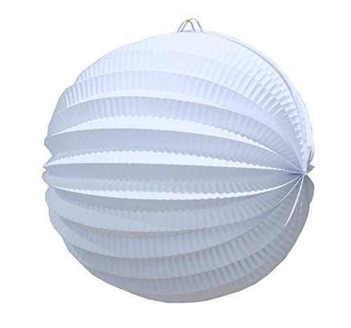 SUNBEAUTY Pack of 6 about 8 inch Paper Lantern Light Chinese Lamp Pleated Paper Lanterns Accordion Lantern for Wedding Baby Shower Bridal Shower Decoration Party Home Events Hanging Decor (White) for $<!--$8.99-->