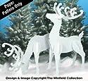Large Elegant Reindeer Woodcraft Pattern