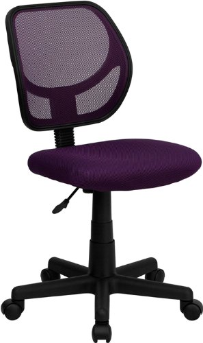 - Flash Furniture Mid-Back Purple Mesh Swivel Task Chair