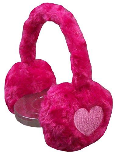 NIce Caps Girls Velboa Poodle Fleece Bunny Ear Muffs