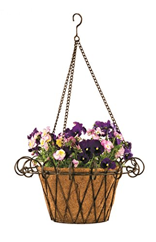 Cheap Deer Park BA131 French Hanging Basket with coco liner, Natural Patina, 17″ Diam