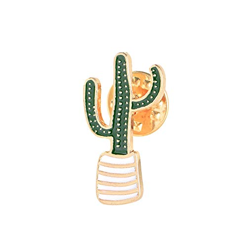 (Tcplyn Premium Quality Lovely Badge Plant Potted Collar Shoe Enamel Brooch Coconut Tree Cactus Leaves Clothing Accessories,2 )