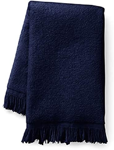 4 Pack 11 x 18 100/% Cotton Show Car Guys Navy Blue Fringed Fingertip Towels Terry-Velour