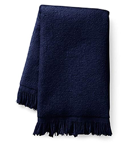 Towel Fingertip 11x18 Fringed - Show Car Guys Navy Blue Fringed Fingertip Towels - 100% Cotton - Terry-Velour - 4 Pack 11