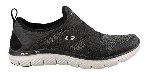 Skechers Shoes Flex Appeal 2.0-New Image Black/Grey Size: 36