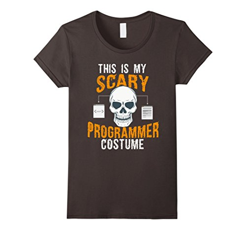 Womens Funny Scary Programmer costume Tee shirt for Halloween 2017 Small (Funny Women's Halloween Costumes 2017)