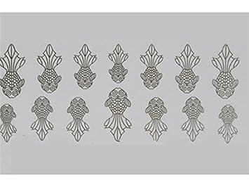 Amazon Com Gelaiken Nail Design Nail Art Sticker 3d Goldfish